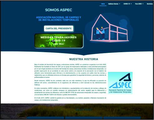 cliente página web a medida ASPEC