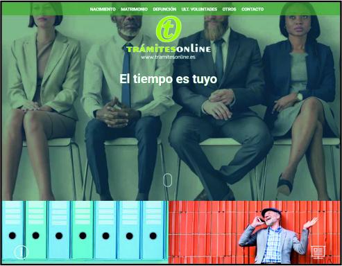 cliente página web a medida TRAMITESONLINE
